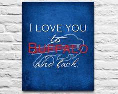 Buffalo Bills football inspired-I love you to the by InkBlotzArt