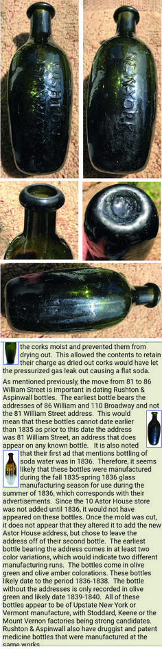 tx for sharing Michael King, Bottle Collectors Turkey Branch, Vereinigte Staaten : Has anyone seen this variety of the Rushton Aspinwall ten pin? Tim Strong: This article mentions the bottles without address likely produced 1839-40 http://www.sodasandbeers.com/.../SABArticlesSoda0001_03.htm Verwalten