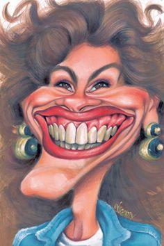 Julia Roberts Caricature  ~ Ʀεƥɪииεð вƴ╭•⊰✿ © Ʀσxʌиʌ Ƭʌиʌ ✿⊱•╮