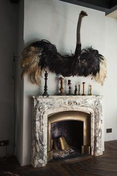 the perfect fireplace pet (Decorista Daydreams) Taxidermy Decor, Faux Taxidermy, World Of Interiors, Interior Inspiration, Design Inspiration, Turbulence Deco, Das Hotel, Interiores Design, Interior And Exterior
