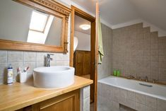Click to Close Bathtub, Interior Design, Mirror, Bathroom, Case, Furniture, Farmhouse, Home Decor, Standing Bath