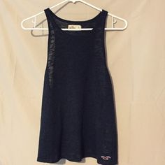 Hollister Navy open back tank. No snags looks brand new Tops