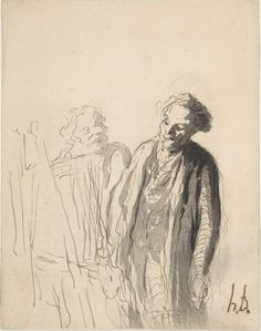 drawings by Daumier | Honoré Daumier, Honore Daumier, Honor Daumier