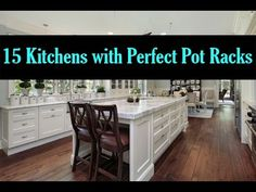 15 Kitchens with Perfect Pot Racks Interior Design Videos, Pot Racks, Kitchens, Table, Furniture, Home Decor, Decoration Home, Room Decor, Kitchen