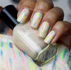 Zoya Nail Polish in Jacqueline with neon confetti nail art - LOVE!