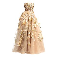 Satinee's collection - Valentino ❤ liked on Polyvore featuring dresses, gowns, long dresses, vestidos, beige gown, valentino evening dress, long beige dress und beige dress