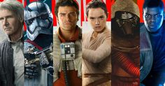 Rey, Captain Phasma, Finn, Poe Dameron, Kylo Ren and Han Solo are featured in Empire Magazine covers for Star Wars: The Force Awakens.