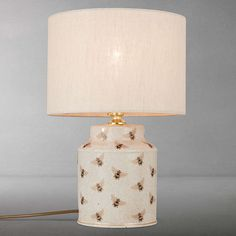 Buy India Jane Bee Canister Jar Ceramic Lamp Base, Natural from our Desk & Table Lamps range at John Lewis & Partners. India Jane, Kitchen Jars, Bee Design, Jar Lamp, Mellow Yellow, Lamp Bases, My New Room, Light Decorations, Bumble Bee Nursery