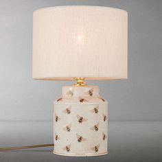 BuyIndia Jane Bees Canister Jar Lamp Base, Cream Online at johnlewis.com