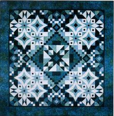 Asteria Block of the Month quilt, designed by Tiffany Haynes, as seen at Connect the Blocks