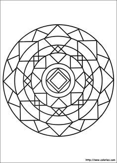 mandalas | Un enchevêtrement de losanges donne à ce mandala une structure très ...