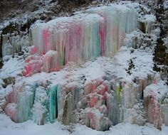 https://flic.kr/p/7snjiz | ICICLES WITH FOOD COLOR...LOVELY!     (#6 Winter Scavenger Hunt 101) | Beautiful icicles with the addition of food coloring...Wow!!!     A beautiful side hill....Thanks to who ever did this.  I've enjoyed the colors as the degrees change.  Just lovely.... SURE A NICE TREAT - THERE IS A MOSSY DAMP AND DRIPPING HILLSIDE AT THE END OF A BRIDGE IN PRINCETON, BC. (IN SUMMER, OF COURSE)  THANK YOU, WHOEVER ADDED THE FOOD COLOR.  SUCH A TREAT EVERY TIME I GO PAST...BEING…