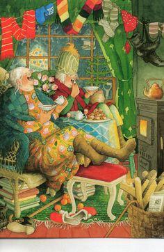 The World's Best Photos of inge and look Winter Illustration, Illustration Art, Old People Love, Old Lady Humor, World Best Photos, Illustrations, Whimsical Art, Funny Art, Christmas Art