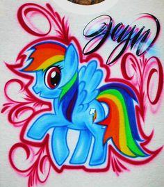Airbrush+T+Shirt+My+Little+Pony+Rainbow+Dash+My+by+BizzeeAirbrush,+$20.99