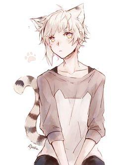 Art anime manga kawaii beautiful neko lion boy bungou_s Anime Neko, Anime Yugioh, Manga Anime, Anime Pokemon, Anime Cat Boy, Fanarts Anime, Hot Anime Guys, Cute Anime Boy, Anime Kawaii