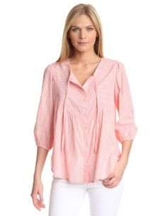 Comes in blue as well!  Amazon.com: U.S. Polo Assn. Women's Striped Woven Blouse: Clothing