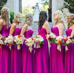 Instagram/Happily Ever After Wedding Bridesmaid style ideas to steal #bridesmaid #dresses #pink #bright