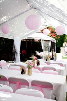 Pink and White Baptism Party Ideas | Photo 6 of 25 | Catch My Party