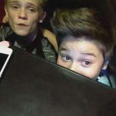 hahahahaahaha!!! they need no reason to be hiding under a table