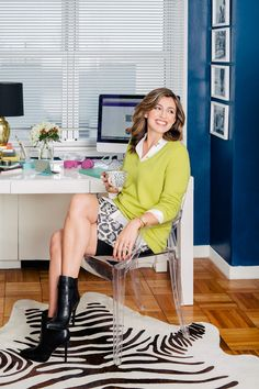 """This Fashion Exec Turned Philanthropist Will Inspire You To Change Your Life #refinery29 http://www.refinery29.com/jess-teutonico#slide7 Separating Work SpaceHer Must-Haves: Pencil skirt, printed stationery """"When I'm meeting with partners, an easy way to dress up is to wear a pencil skirt with high heels. Aside from business meetings, I work entirely from home. And, since our house is a live/work/toddler space, it ends up being very lived-in, chaotic. But, I try to stay as organized as ..."""