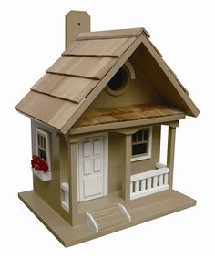 Look at this Tan Cottage Birdhouse on #zulily today!