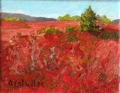 STUDIO EVENT Maine Blueberry Barrens small by MyMainePaintings