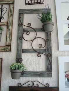 trendy wood home decore diy old windows Garden Projects, Wood Projects, Cheap Home Decor, Diy Home Decor, Old Windows, Windows Decor, Vintage Windows, House Windows, Iron Decor