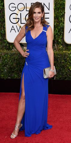 Golden Globes 2015: Red Carpet Arrivals - Cindy Crawford from #InStyle