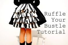 no big dill: I Colored Olive's Skirt or Ruffle Your Bustle Tutorial