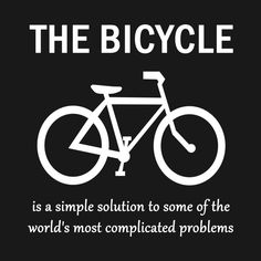 29f967c0d Shop Bicycle is a simple solution bicycle is a simple solutionworlds  complicated problems t-shirts designed by kanetylerfys as well as other  bicycle is a ...