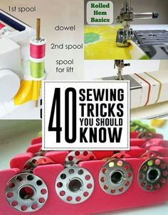 Sewing Tips Helpful Hints More great sewing hacks Sewing Hacks, Sewing Tutorials, Sewing Crafts, Sewing Patterns, Sewing Tips, Sewing Ideas, Sewing Blogs, Clothes Patterns, Dress Patterns