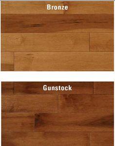 Hardwood floors  (kinda loving the gunstock for the living room)