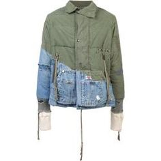 Great news, Greg Lauren distressed hooded jacket is available at Farfetch Hong Kong! Denim Mantel, Work Jackets, Denim Coat, Green Jacket, Denim Fashion, Hooded Jacket, Hoods, Street Wear, Menswear