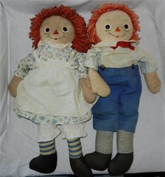 In 1946 Georgene manufactured the third version of their Raggedy Ann and Andy dolls. Description from janiesdolls.com. I searched for this on bing.com/images