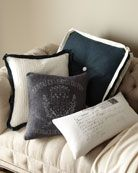 I love the look of the vintage post card pillow