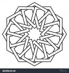 Islamic geometric art, arabic motif, sacred geometry, star m Islamic Motifs, Islamic Art Pattern, Arabic Pattern, Pattern Art, Geometry Art, Sacred Geometry, Motif Oriental, Geometric Drawing, Celtic Patterns