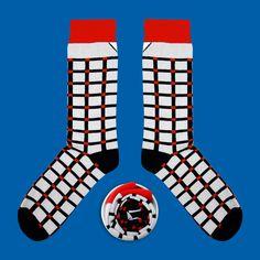 Model: Czarno - białe skarpety w kratę Seria:  Unkeyboardinated [|] #cupofsox #skarpetki #skarpetka #socks #sock #womensocks #mensocks #koloroweskarpetki [|]