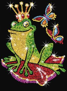 KSG Sequin Art Junior Frog Prince 1006 | Hobbies