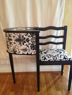 Vintage+Black+&+White+Chairtelephone+Bench+by+Auntpollie+on+Etsy,+$150.00