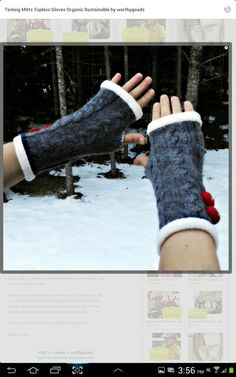 Fingerless mittens from old sweaters