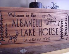 lake rules wooden sign | Nicewoodsigns Lake Edward