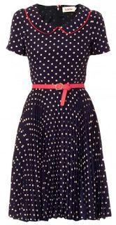 Savvy Chic, Canny Style: Delightful Dress: Louche Leanna Spot Collar Dress from Joy @Jò in Wonderland