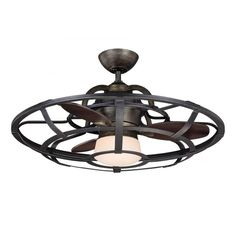 Illumine Aumbrie 26 in. Reclaimed Wood Indoor Ceiling Fan