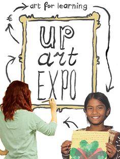 35 kunstenaars aan de slag voor UP, Art for Learning schilderen, beeldhouwen, tekenen en fotografie