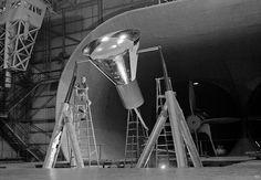 ... airtunnel testing Mercury capsule
