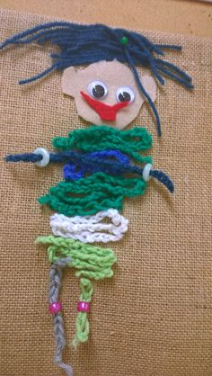 Open kässä ja kuvis Textiles, Fiber Art, Couture, Crochet Necklace, Crafts For Kids, Christmas Ornaments, Holiday Decor, Faces, 3 Years