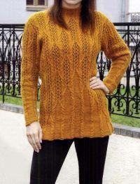 Pullover mit Ajour-Zopfmuster Kostenlose Anleitung