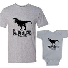 765caf1cb Daddysaurus - Babysaurus Heather Shirts Daddy and Me Shirt Set by  shirtsbynany on Etsy Bodysuit Shirt