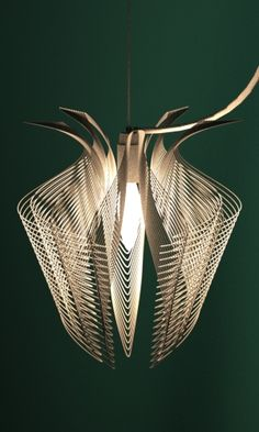 3d printed lampshade nylon by studioluminaire 3D printing service - http://www.sunruy.com/