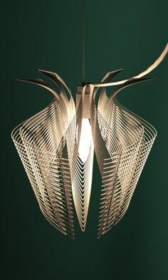 3d printed lampshade nylon by studioluminaire